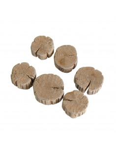 Drijfhout knutselplakjes