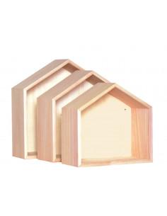 Wandplank huisjes