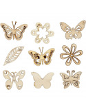 Houten mini figuurtjes vlinder