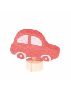 Rode auto steker voor verjaardagsring