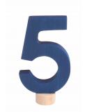 Cijfer 5 voor verjaardagsring