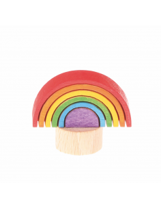Regenboog steker voor verjaardagsring