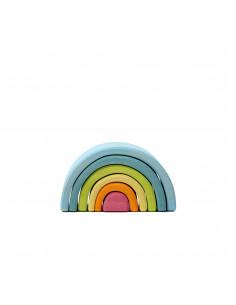 Kleine houten regenboog pastel