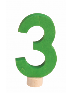 Cijfer 3 voor verjaardagsring
