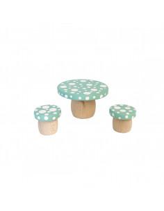 Droomtafeltje met krukjes groen