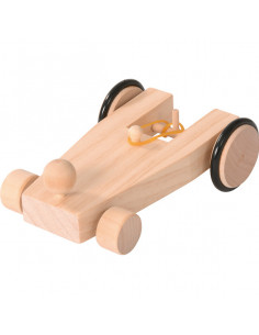 Opwindbare raceauto bouwpakket
