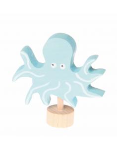Octopus steker voor verjaardagsring