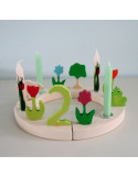 Verjaardagsring klein wit