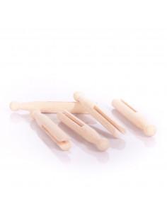 Oude houten wasknijper